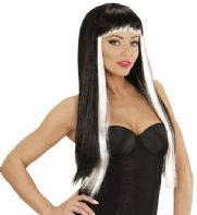 Gothic Glam Wig Black/White (06766)